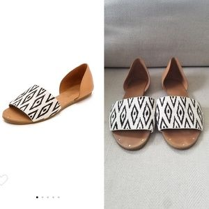 Madewell Thea Diamond Ikat Haircalf Sandals 7